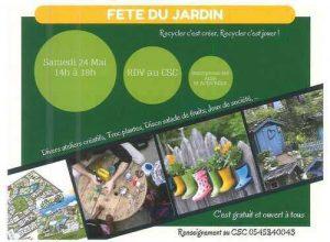 Fête du Jardin samedi 24 mai