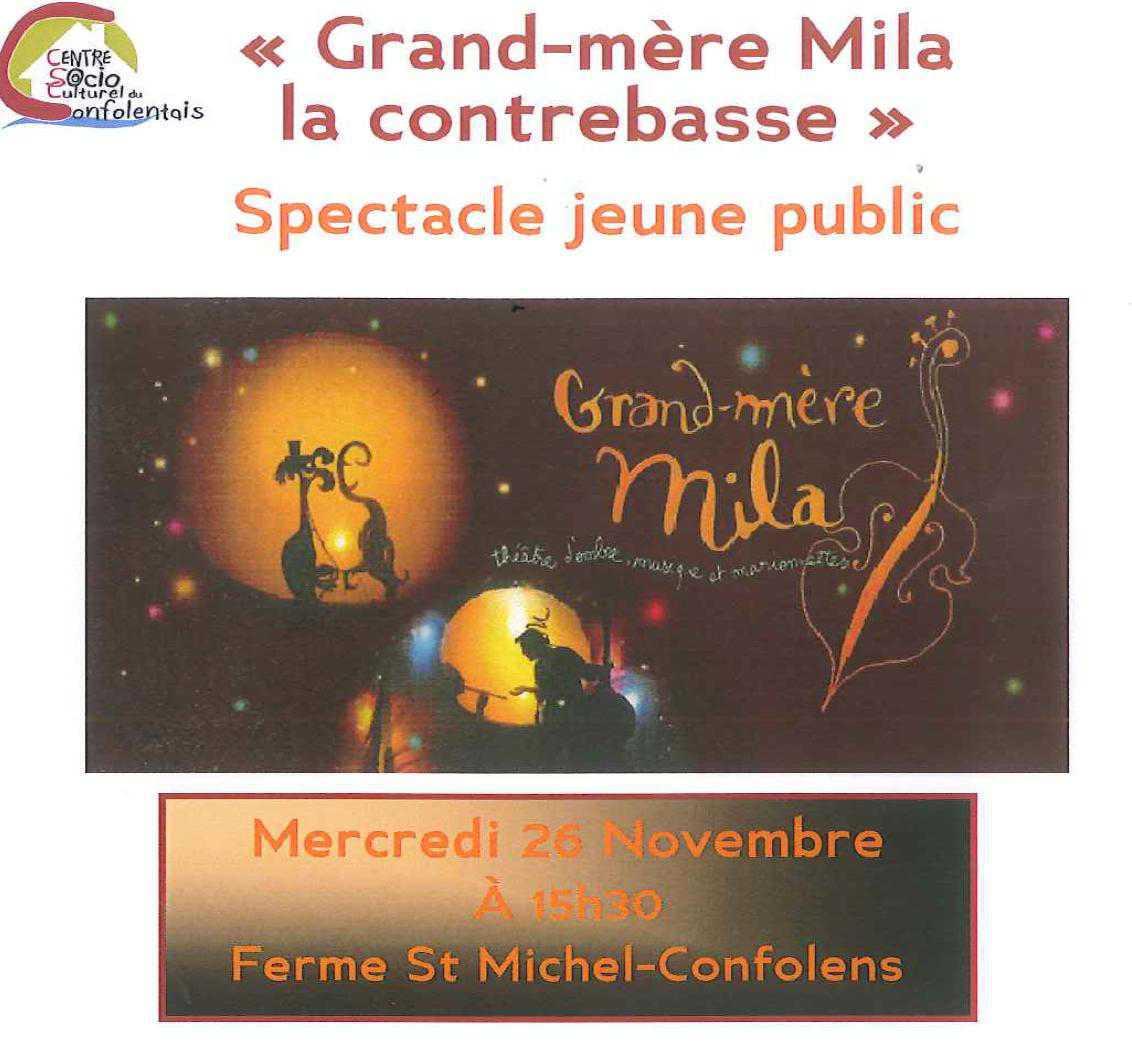 Spectacle jeune public Mercredi 26 Novembre