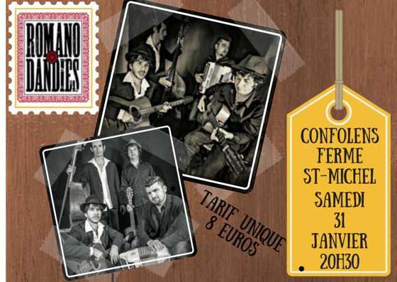 Les ROMANO DANDIES en concert Samedi 31 Janvier