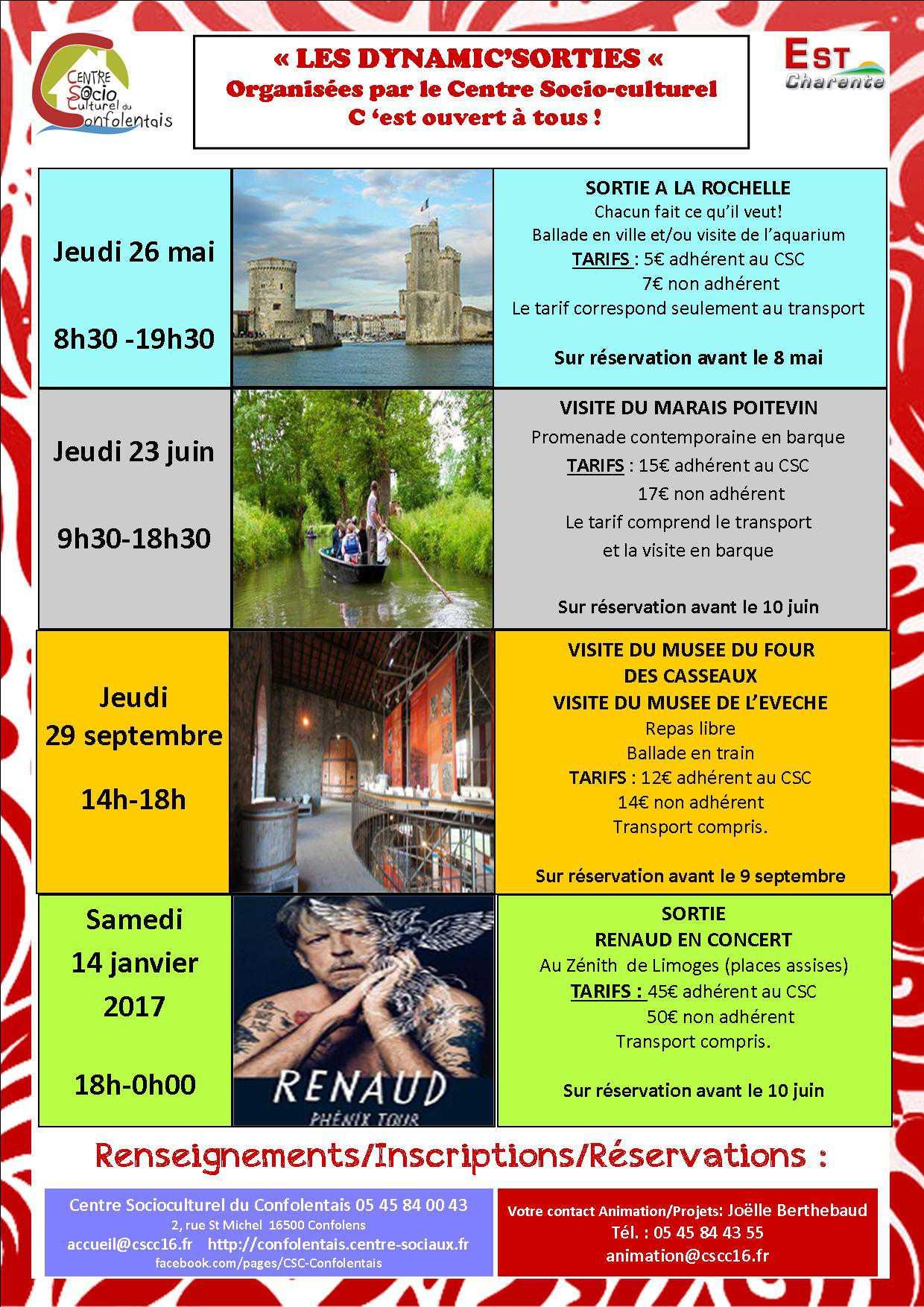 Dynamic Sorties: La Rochelle, Marais Poitevin, Concert Renaud… Réservez!