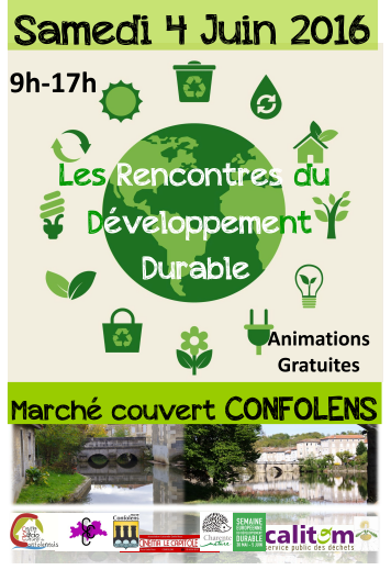 1ères rencontres du développement durable samedi 4 juin à Confolens