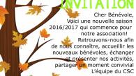 Cher(es) Bénévole(s), voici une nouvelle saison 2016/2017 qui commence pour notre association! Retrouvons-nous afin de nous connaître, accueillir les nouveaux bénévoles, échanger et présenter nos activités, partager un moment convivial! […]
