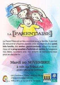 Le 20/11 La Parent'Aise au TribuLAB