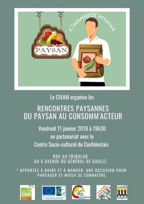 11/01 Les Rencontres Paysannes : Du paysan au consomm'acteur