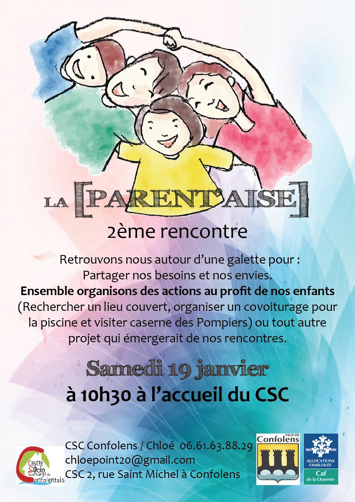 19/01 Rencontre entre Parents