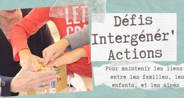 Rejoignez les Défis Intergénér'Actions !