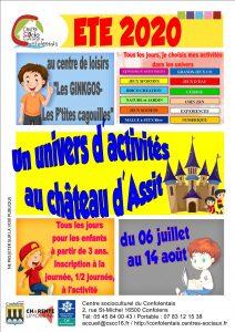 Read more about the article Centre de Loisirs Eté 2020